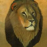 Sundowner: African Lion Art Oil