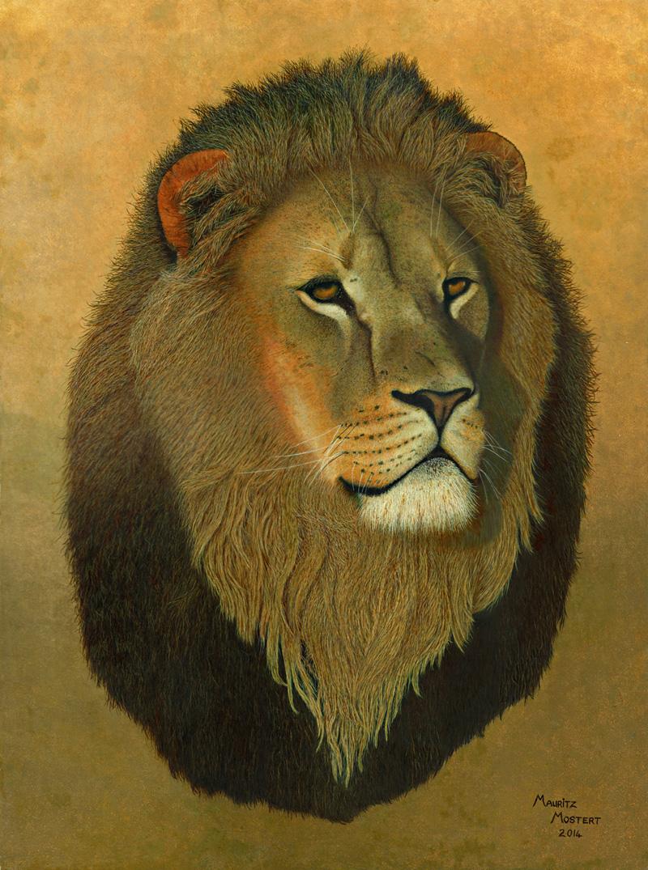 Sundowner: African Lion Art Oil