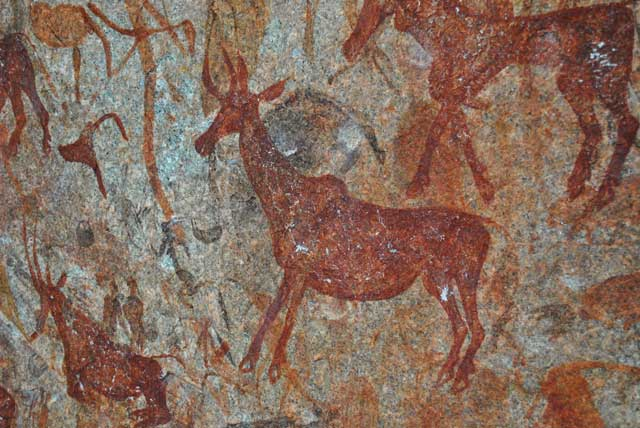 Hartebeest-Bushman-Rock-Painting-Wildmoz.com