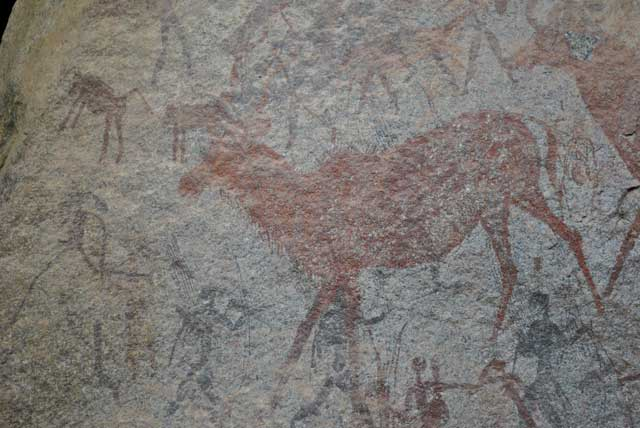 Kudu-and-Baboon-Cave-Painting-Wildmoz.com