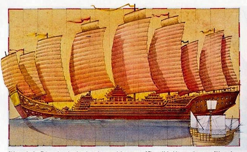 Zheng-He's-ship-vs-Vasco-De-Gama's-Ship-Wildmoz.com