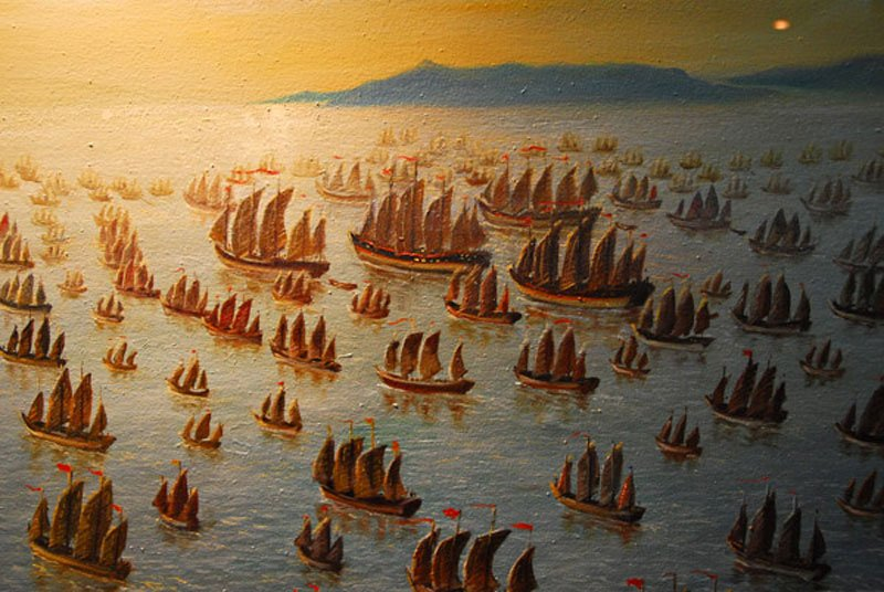Zheng-He's-Fleet-Oil-Painting-Wildmoz.com
